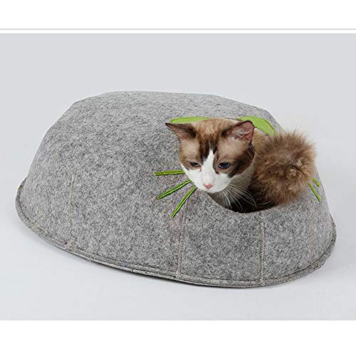 DLDL Cat Bed Indoor Cave Pet Bowl-geshaped Bed Mat Removable Soft Cushion Egg Shape Bed for Small...