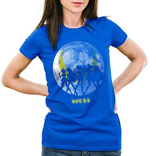 style3 Sailor Senshi T-shirt da donna pietra di luna anime, Colore:blu;Dimensione:M
