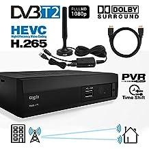 Crypto Redi 270PHA DVB-T2 HEVC H.265 Sintonizador Receptor y Grabador TDT Full HD 1080P con Dolby Reproductor multimedia PVR Con antena DVB T2 interior y cable HDMI 1M