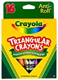 Crayola. 524016 triangulares Crayons, Assorted, 16/Box