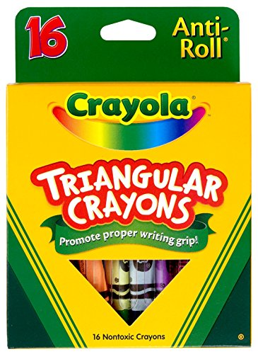 Triangular Crayons, Assorted, 16/Box