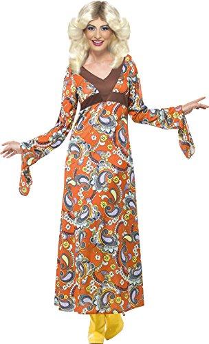 Smiffys, Damen Woodstock Kostüm, Maxi Kleid, Größe: S, 43832