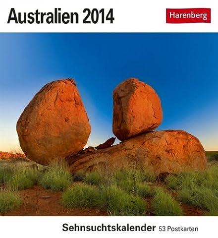 Sehnsucht Calendrier Australie–Calendrier 2014–Carte postale avec table de 53cartes postales–Calendrier–Calendrier
