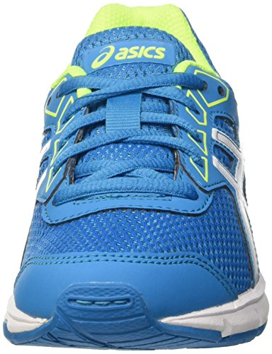 Asics Gel-Galaxy 9 Gs, Scarpe da Ginnastica Unisex – Bambini Blu (Blue Jewel/White/Safety Yellow)