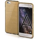 Funda protectora OneFlow para funda Samsung Galaxy A3 (2015) Carcasa silicona TPU 1,5mm | Accesorios cubierta protección móvil | Funda móvil paragolpes bolso cepillado aluminio diseño en Ivory-Gold
