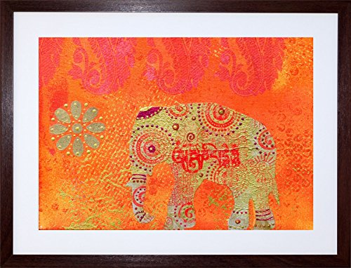 9x7-dt-indian-collage-elephant-framed-art-print-picture-mount-photo-f97x290