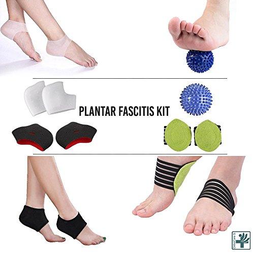OrthoCare S - Plantar Fasciitis Kit: Sleeve für Plantarfasziitis, Massageball, Fußgewölbestütze, Fußmassagegerät, Fersen- und Fußgewölbepolster, Fußgelenkbandage, lindert Fußschmerzen und Metatarsalschmerzen