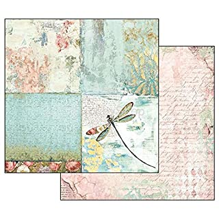 Stamperia Papel Scrap Wonderland Libélula, Multicolor, Talla unica (B07CWJTZZG) | Amazon Products