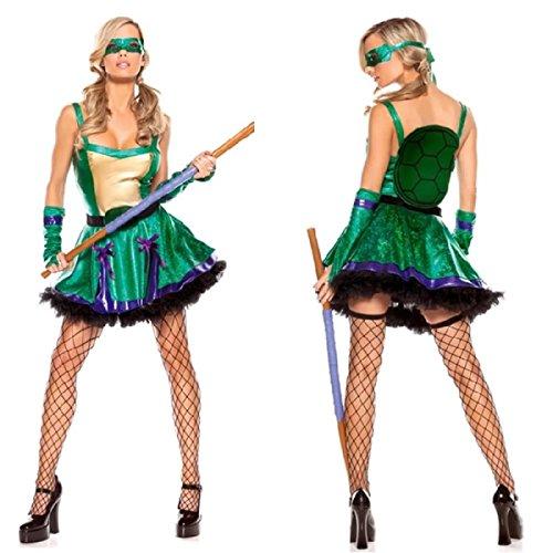 Nihiug Ninja Schildkröten Rolle Kleid Halloween Cosplay Anzüge Ozean Thema Sexy Party Party Kleid Prank Interessant Schrecklich (Kostüme Ninja Themen)