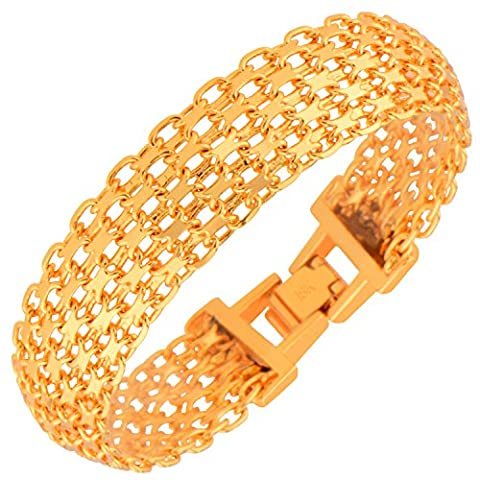 New Fashion Men's Bracelets High Quality 18k Gold Plated Women Fashion India Jewelry Chain Gifts B40107