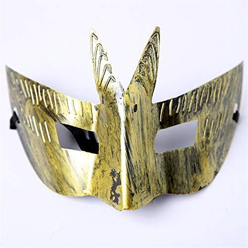 Krieger Kostüm Wolf - MASKUOY Halloween-Maske Männer Krieger Maske Hochzeit Karneval Party Performance Kostüm Sex Lady Maske Schwalbenschwanz Crown Design