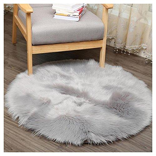 Sofa Teppich aus Kunstpelz weich rund Tischdecke