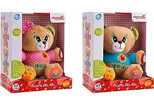 Globo Toys Globo-5164Juego de 2Vitamina _ G Italiano Hablando y Funciones de música con Oso de Peluche