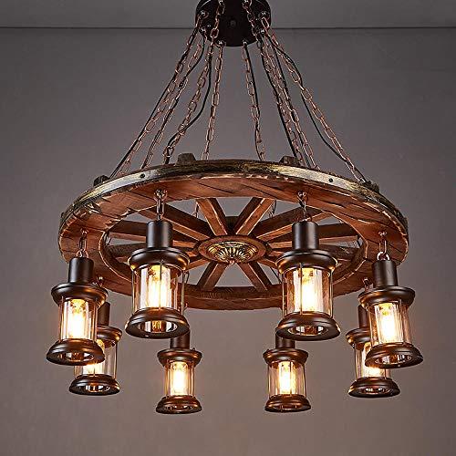 8-Licht Industriell Pendelleuchten Moonlight Lackierte Oberflächen Holz/Bambus Glas 110-120V / 220-240V Glühbirne nicht inklusive / E27@220-240V -