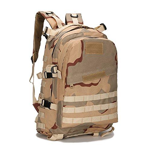 Z&N Military Pack Tarnung taktische Tasche Schultertasche wasserdichte Oxford Bergsteigen Tasche Outdoor Rucksack Sport Rucksack Camping Rucksack Wanderrucksack Multifunktions Großraum Rucksack D