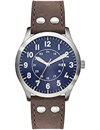 s.Oliver Herren-Armbanduhr XL Analog Quarz Leder SO-2977-LQ