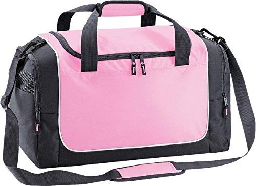 Quadra Sport Reisetasche Aufbewahrung Reise Gepäck Duffle Teamwear Spind Tasche One Size - Classic Pink/ Graphite Grey/ White