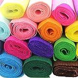 UGUAX - 10 Rotoli di Carta crespa Fai da Te per confezionare Fiori Fatti a Mano, per Matrimoni, Compleanni, Feste, 10 Colori