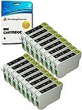 16 SCHWARZ T0711H Druckerpatronen kompatibel für Epson Stylus D120 DX7400 DX7450 DX9400F SX205 SX210 SX215 SX218 SX405 SX410 SX415 SX515W SX600FW Office B40W BX300F BX310FN BX610FW - hohe Kapazität