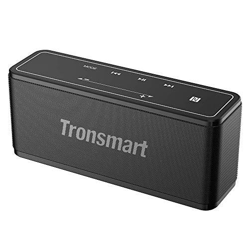 Bluetooth-Lautsprecher, Tronsmart Mega 40 W Lautsprecher Bluetooth Lautsprecher ohne Kabel TWS & NFC, Touch-Taste, Dual-Driver, integriertes Mikrofon, NFC, Deep Bass- Grau