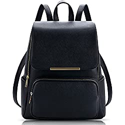 Vintage Stylish Girls School bag College Bag Casual Backpack(A6) (Black)