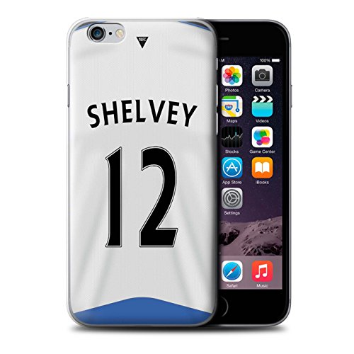 Offiziell Newcastle United FC Hülle / Case für Apple iPhone 6 / Pack 29pcs Muster / NUFC Trikot Home 15/16 Kollektion Shelvey