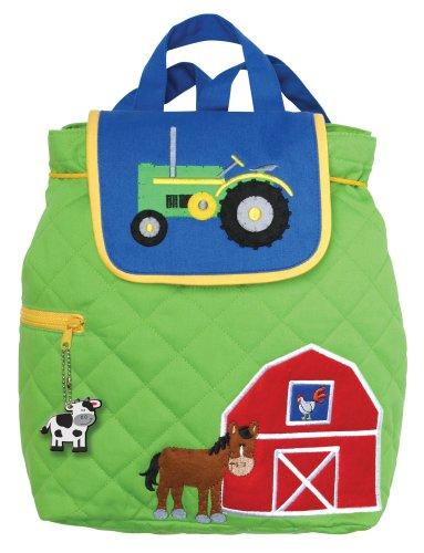 Stephen Joseph Children's Quilted Backpacks Kinder-Rucksack, 33 cm, 2 liters, Grün (Green)