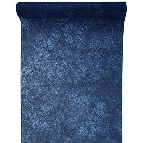 Santex NEU Tischläufer Faseroptik Marine Blau, 30cm x 5m