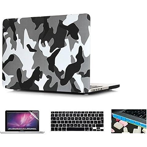 i-Buy Caso de Shell duro + cubierta del teclado + Protector de pantalla + enchufe del polvo para Apple Macbook Pro 13 pulgadas con Retina Display(Modelo A1502 A1425)-