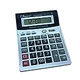 8chiffres Calculatrice parlant Anglais avec Alarme, temps Show, carreaux Argent Bureau ordinateur