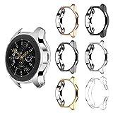 Dreamtop Custodia Compatibile con Samsung Galaxy Watch 46 mm/Samsung Gear S3 [6 Pezzi], Custodia Morbida in TPU Sottile placcata, Protezione Integrale per Galaxy Watch 46 mm SM-R800 Smartwatch