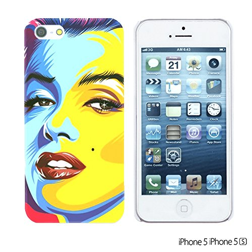 OBiDi - Celebrity Star Hard Back Case / Housse pour Apple iPhone SE / Apple iPhone 5S / 5 - Frank Zappa Marilyn Monroe