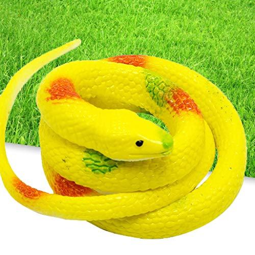 TriLance Kunststoff Weichem Simulation Schlange Kobra gefälschte Schlange Schelmisch Gruselig Parodie Spielzeug, Neue Gummi Schlangen Party Halloween Prop Witz Weiche interaktive Spielzeug