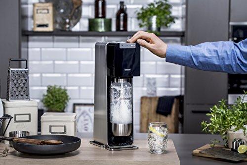 SodaStream POWER Elektronischer Wassersprudler, macht vollautomatisch aus Leitungswasser Sprudelwasser – ohne schleppen! mit 1 Zylinder und 1L PET Flasche (BPA frei); Farbe: schwarz - 5