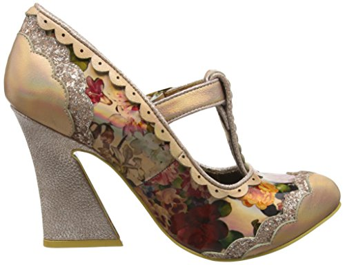 Irregular Choice Damen Rum Punch Pumps Gold (Light Gold)
