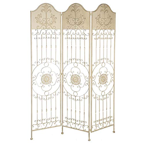 aubaho Paravent Pergola Spalier Eisen Rankhilfe Zaun 19kg Antik-Stil Raumteiler weiß