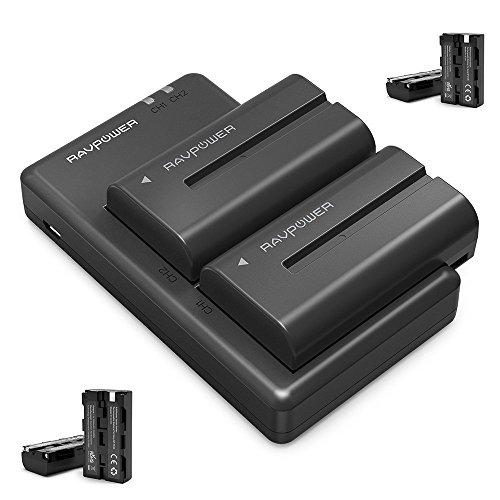 Galleria fotografica Sony NP-F550 RAVPower Doppio Caricatore con 6 Batterie di Ricambio da 2900mAh, Compatibile al 100% Con Fotocamera Sony Originale delle serie NX5 / TRV1 / TRV3 and TRV9E / 46E / 49E