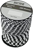 100m Reel Paracord Army Camping for Tent Basha Bivi Shelter Buidling Hammock Gardening Bushcraft in Green, Black, Coyote and Red Colours (Black/White)