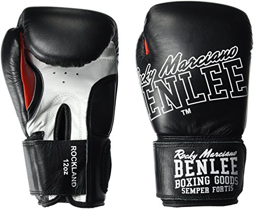 BENLEE Rocky Marciano Rockland Boxhandschuhe, Black/White, 14 oz