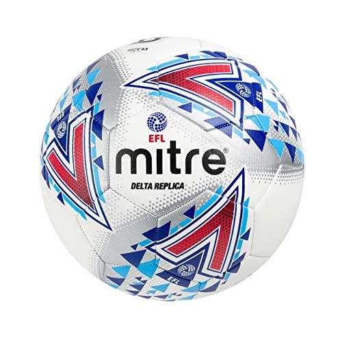 Mitre, pallone da calcio delta replica efl football, bianco, 5