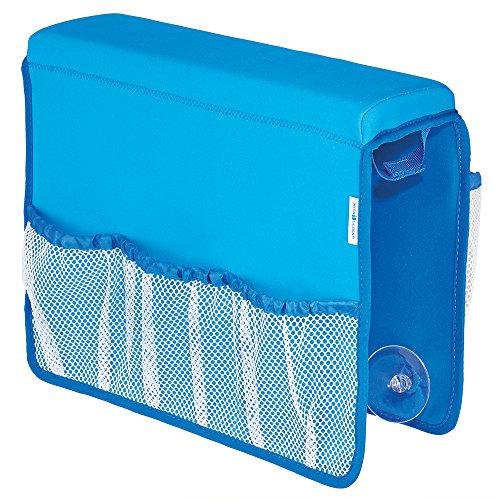 iDesign 09510EU Satteltasche für die Badewanne, Neopren / Netz, blau