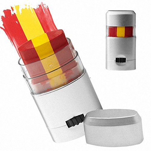Taffstyle® Fanartikel Schminkstift Fan Make-Up mit Fussball Weltmeisterschaft WM & EM Europameisterschaft 2016 Länder Flaggen Style - Spanien