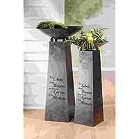 1x Girlande Grafik Kugel aus Edelstahl Sonnengrafik Ornament oder Blume des Lebe