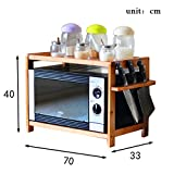 Aufbewahrung 2 Tier Bambus Mikrowelle Regal Arbeitsplatte Lagerregale Küche Zähler und Kabinett Regal Organisation (Größe : 70cm)