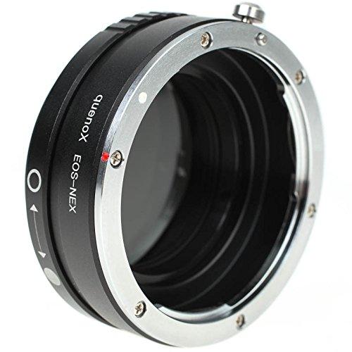 Quenox Adapter mit Vario-ND-Filter für Canon-EOS-Objektiv an Sony-E-Mount-Kamera (Alpha/NEX)