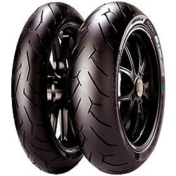 Pirelli Diablo Rosso II Tire - Rear - 190/50ZR-17 , Tire Type: Street, Tire Application: Sport, Position: Rear, Tire Construction: Radial, Tire Size: 190/50-17, Rim Size: 17, Load Rating: 73, Speed Rating: (W)