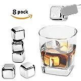 Edelstahl Eiswürfel, Whisky stones Wiederverwendbare Eiswürfel Eisig Stones Rocks für Wein, Bier, Getränk, Set von 8