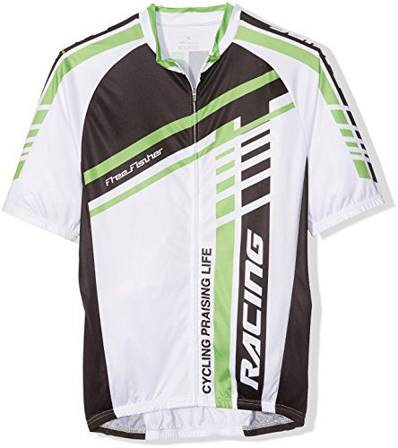 FREE FISHER ABC794A/XL   MAILLOT DE MANGA CORTA  COLOR BLANCO / VERDE  TALLA XL