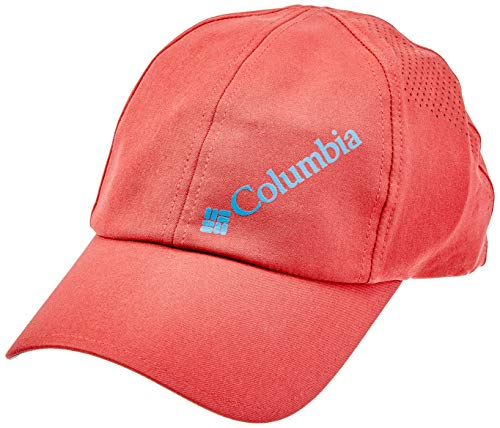 Columbia Silver Ridge Ball Cap Gorra, Hombre, Rojo (Red Element)/Azul (Whale), Talla única Ajustable