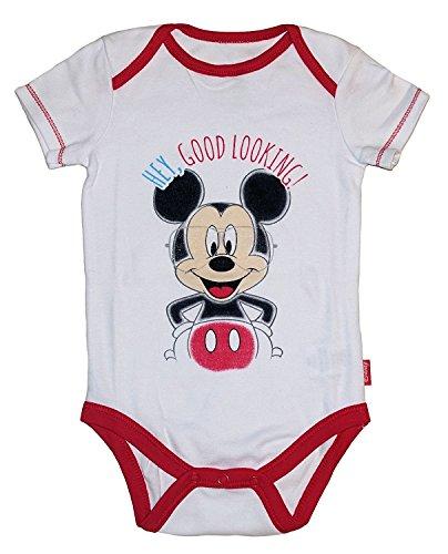 Mickey & Minnie Mouse Baby Jungen & M?dchen Bodysuit Dress Up Outfit (Neugeborene, wei?e Mickey)